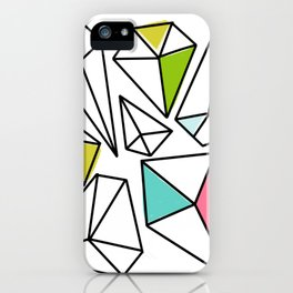 Shine Bright | Colorful Geo Gems iPhone Case
