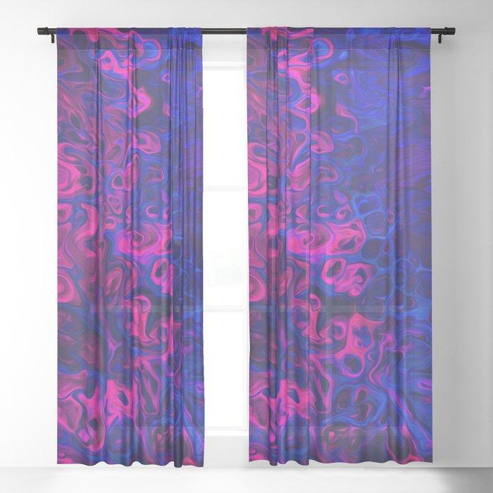 Blacklight Sheer Curtain
