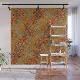 Desert Circles - Burnt Orange Wall Mural