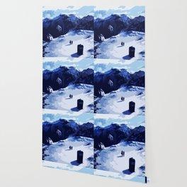 Tardis Art At The Snow Mountain Wallpaper