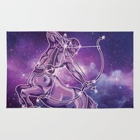 sagittarius Area & Throw Rugs featuring Sagittarius by WesSide