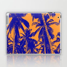 Palm Trees Design in Blue and Orange Laptop & iPad Skin