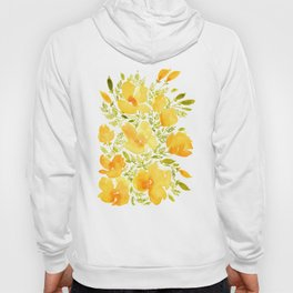 Watercolor California poppies (Quad set, #2) Hoody