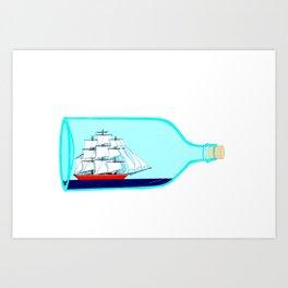 A Ship in a Bottle Art Print