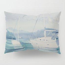 White Boats Pillow Sham