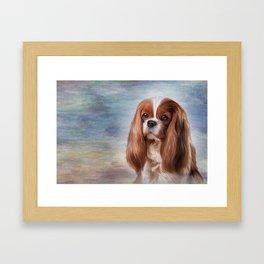 Drawing Dog breed Cavalier King Charles Spaniel Framed Art Print