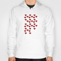8 bit Hoodies featuring 8 BIT HEART by Bianca Lopomo