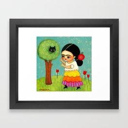 The Cat Rescue! Framed Art Print