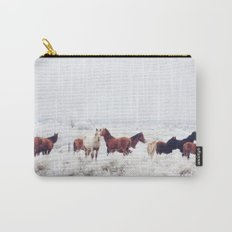 Winter Horseland Carry-All Pouch