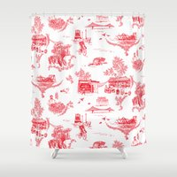 montreal Shower Curtains featuring Montreal Scenic by Audrey Fortin