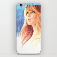 jennifer lawrence iPhone & iPod Skins featuring Jennifer Lawrence by xDontStopMeNow