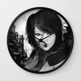 japan  warrior Wall Clock