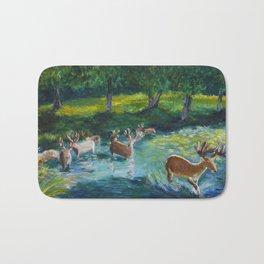 Walking through a Sapphire River Bath Mat