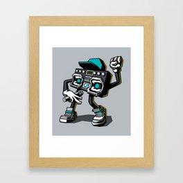 Beatbox Boombox Framed Art Print