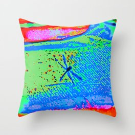 Cerulean Dragonfly Throw Pillow