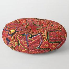 Kuna Indian Men in Canoes Floor Pillow