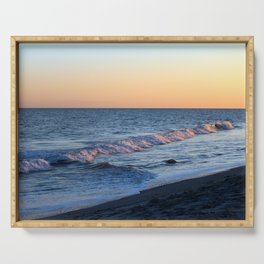 Sunset Waves Serving Tray