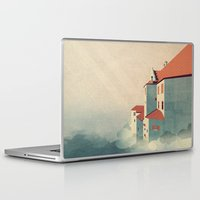castle in the sky Laptop & iPad Skins featuring Castle in the Sky by Schwebewesen • Romina Lutz