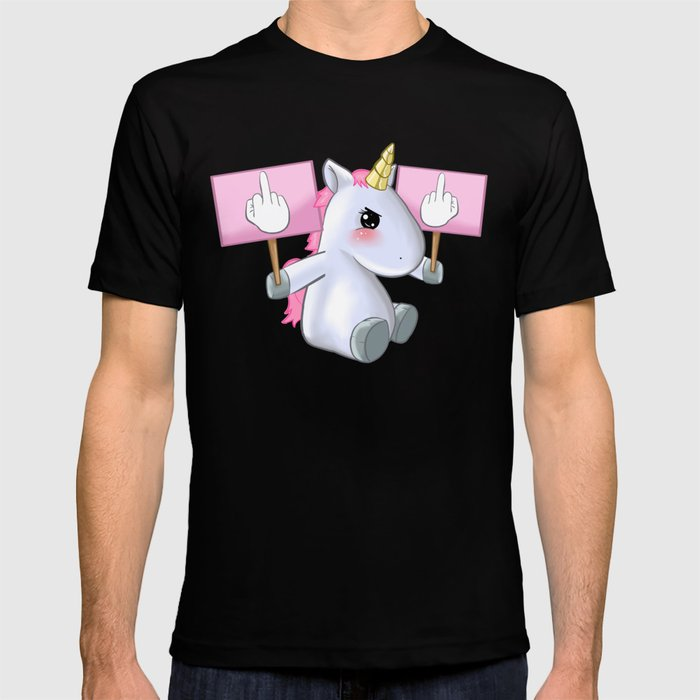 a286aefa2 Unicorn Fuck Off You Piss Middle Finger Bad Badass Gift T-shirt by ...