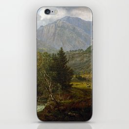Johan Christian Dahl View of Fortundalen iPhone Skin