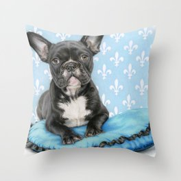 Draw Me Like One Of Your French Girls- Square Format Throw Pillow
