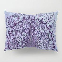 Doodle Peacock Purple Pillow Sham