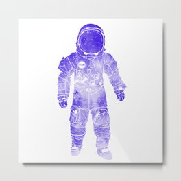 Rave Invaders PLUR Space Force Astronaut Metal Print