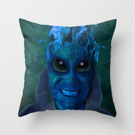 BLUE PLANET ALIEN (Us And Them) Throw Pillow