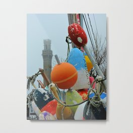 Pilgrim Monument and Buoys Metal Print