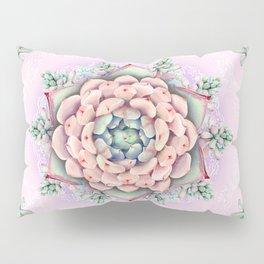 succulent mandala 2 Pillow Sham