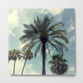 Relaxing palms of Barcelona Metal Print