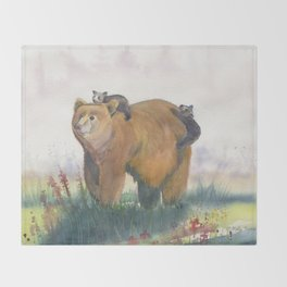Bear Family Throw Blanket