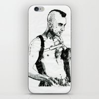 taxi driver iPhone & iPod Skins featuring Taxi Driver by Art & Ink