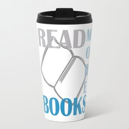 READ MORE BOOKS in blue Travel Mug