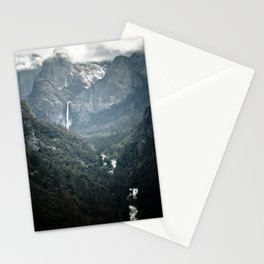 Waterfall in yosemite Stationery Cards