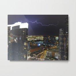 Vegas Electrocuted Metal Print
