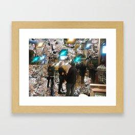 SANTA MONICA SIDEWALK Framed Art Print