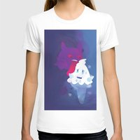 gengar T-shirts featuring Gengar eating ice cream by Alvaro Núñez