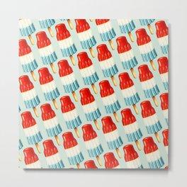 USA 4th of July Popsicle Pattern Metal Print