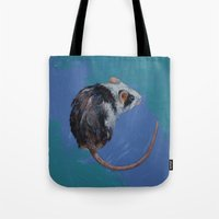 mouse Tote Bags featuring Mouse by Michael Creese
