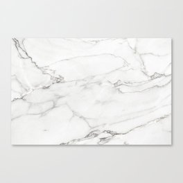 White Marble 006 Canvas Print