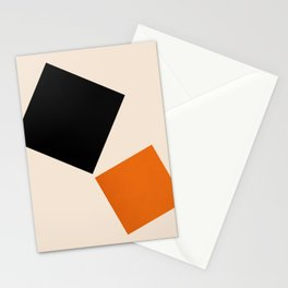 Abstraction_SQUARE_MOVEMENT_POP_ART_Minimalism_001M Stationery Cards