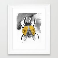 beetle Framed Art Prints featuring Beetle by Dnzsea