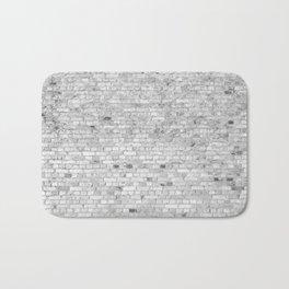 White Washed Brick Wall - Light White and Grey Wash Stone Brick Bath Mat