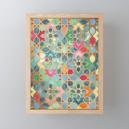 Gilt & Glory - Colorful Moroccan Mosaic Framed Mini Art Print