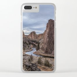 Twilight at Smith Rock State Park Clear iPhone Case