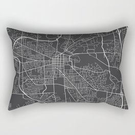 Ann Arbor Map, USA - Gray Rectangular Pillow