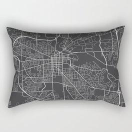 Ann Arbor Map, USA - Gray Rectangular Pillow