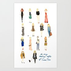 The Many Wondrous Outfits of Emma Stone Art Print