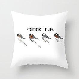 CHICK I.D. Chickadee Throw Pillow